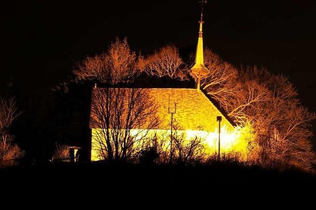 Adventsstimmung an der Munzinger Erentrudis-Kapelle