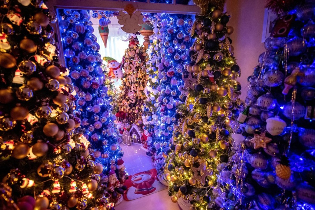 Weihnachtswunderland in Niedersachsen.  | Foto: Sina Schuldt (dpa)