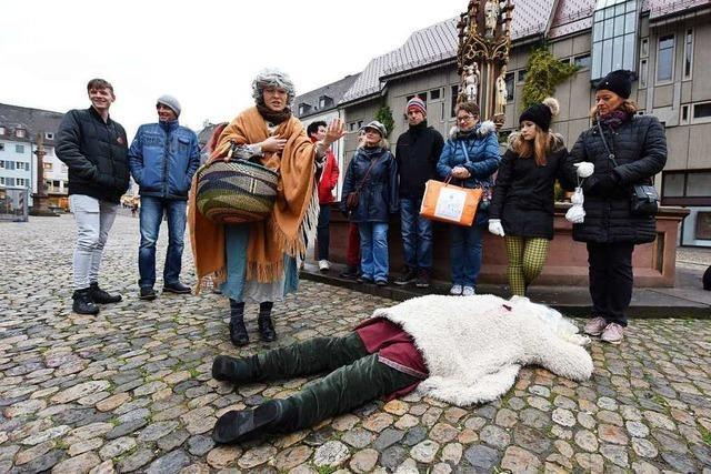 Bei einem interaktiven Stadtkrimi können Freiburger den Mörder des Nikolaus suchen