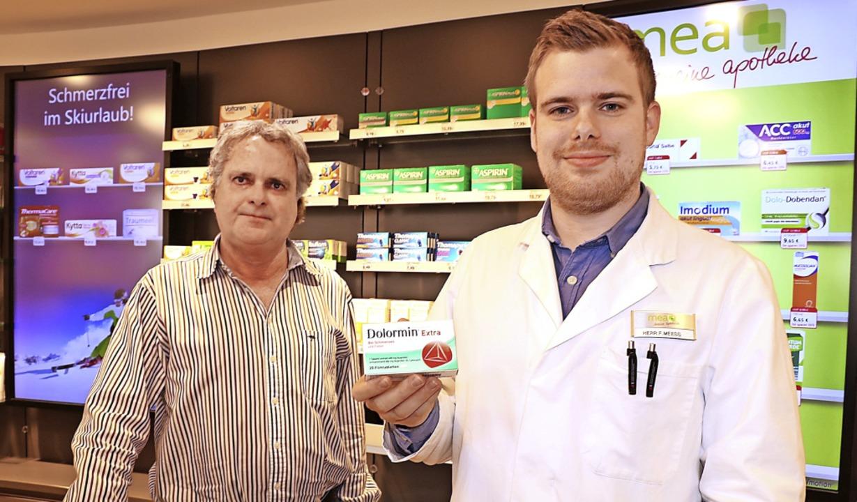 Für das Schmerzmittel Dolormin Extra g...obleme den Patienten kaum vermitteln.   | Foto: Wursthorn, Jens