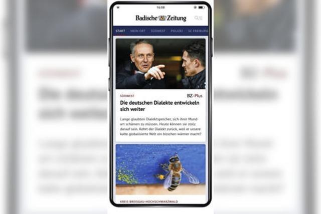 Die neue BZ-Smart-App: Mobil, schnell, einfach und regional