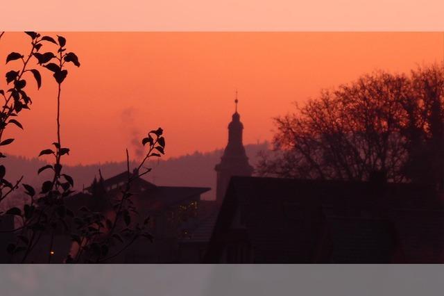 Morgendämmerung über Ettenheim
