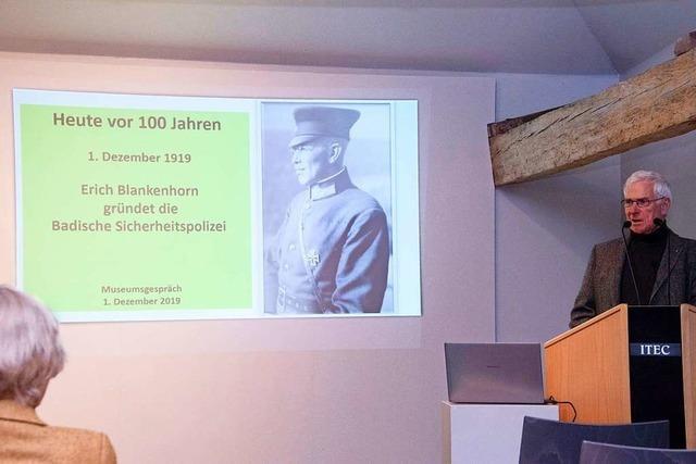 Erich Blankenhorn baute nach dem Ersten Weltkrieg die Badische Sicherheitspolizei auf