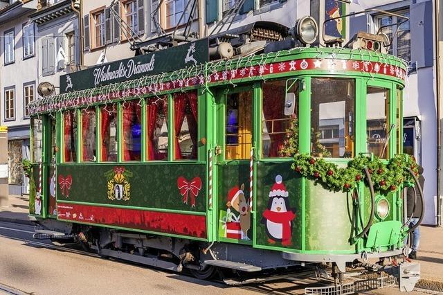 Wiehnachts-Drämmli in Basel unterwegs