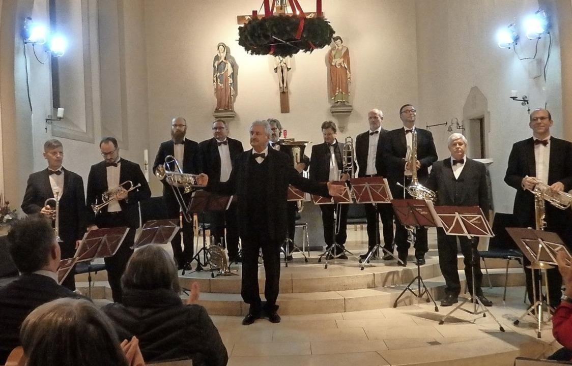 Blasmusik vom Feinsten: Ludwig Güttler (Mitte) und seine Mitstreiter   | Foto: Bianca Flier