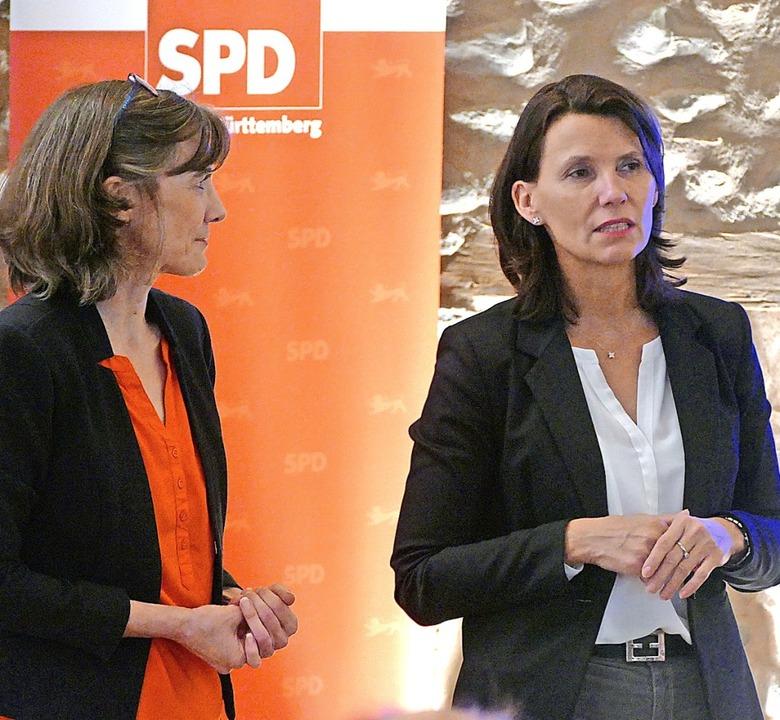 Die Staufener SPD-Ortsvereinsvorsitzen...atssekretärin Rita Schwarzelühr-Sutter  | Foto: Victor Adolf