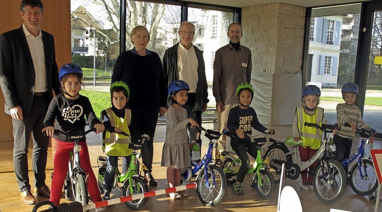 Über Räder und Verkehrsübungssets könn...Innovationspreises machen es möglich.   | Foto: Stadt offenburg
