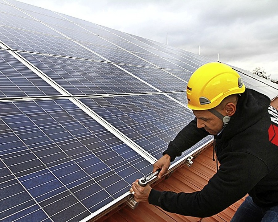 Auf dem Dach des neuen Kindergartens i...e Photovoltaikanlage errichtet werden.  | Foto: Nestor Bachmann