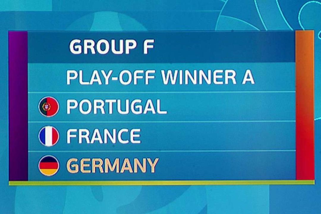Die Gruppe F mit Deutschland  | Foto: Christian Charisius (dpa)