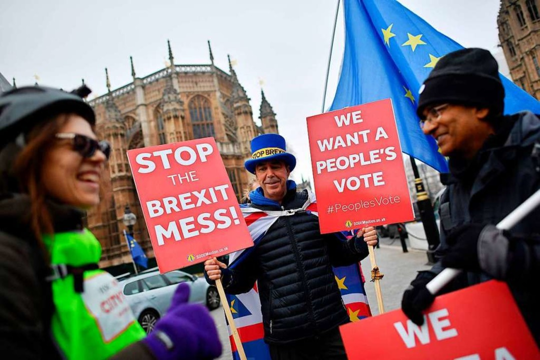 Demonstration gegen den Brexit in London 2018  | Foto: BEN STANSALL