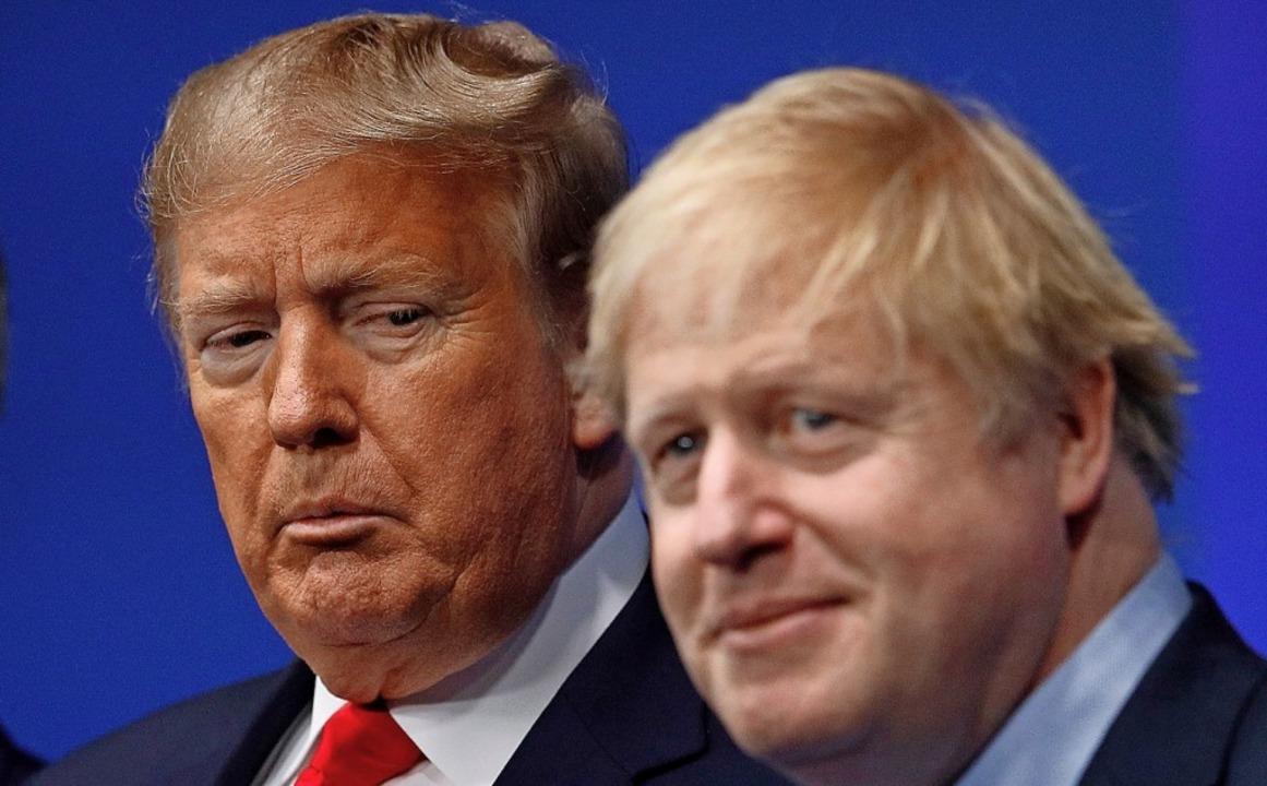 Kerbtiere? Donald Trump und Boris Johnson beim Nato-Gipfel    Foto: PETER NICHOLLS (AFP)