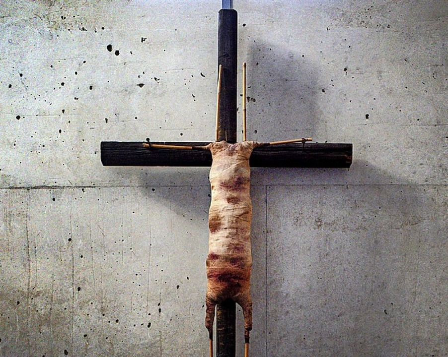 Das Kreuz des Anstoßes  | Foto: Jana Bauch (dpa)