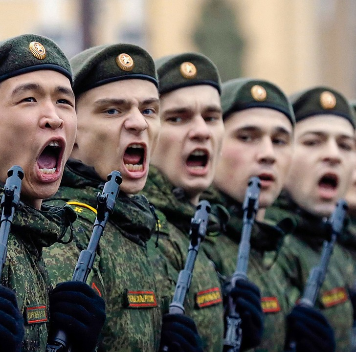 Russische Kadetten in St. Petersburg    Foto: Anatoly Maltsev