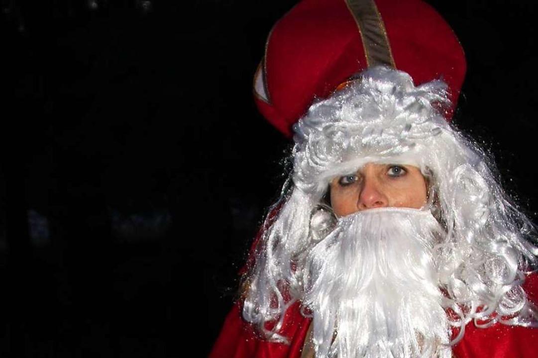 Susanne Kreutz als Nikolaus  | Foto: privat