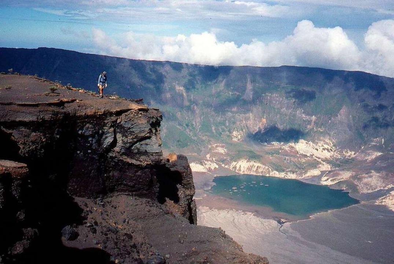 Der Vulkan Tambora in Indonesien.  | Foto: epa URI