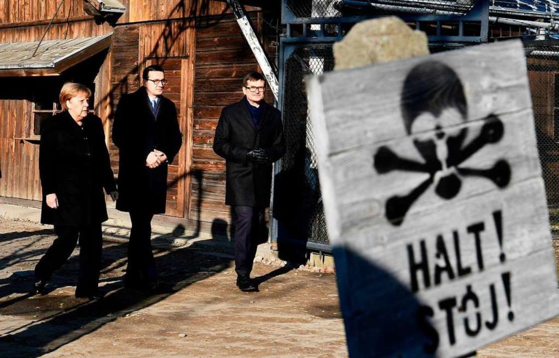 Bundeskanzlerin Merkel besucht KZ Auschwitz    Foto: JOHN MACDOUGALL (AFP)