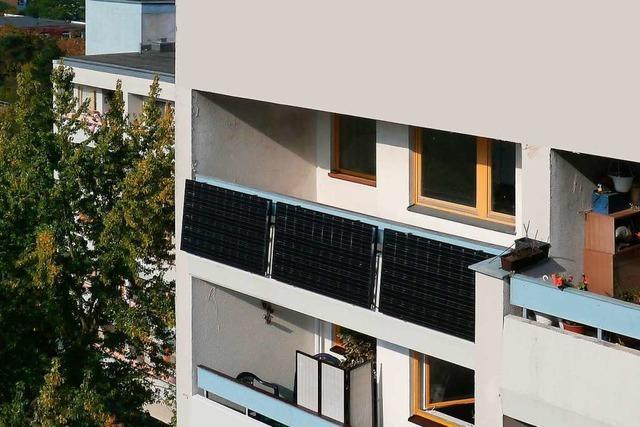 Solaranlagen auf dem Balkon werden in Freiburg einfacher möglich