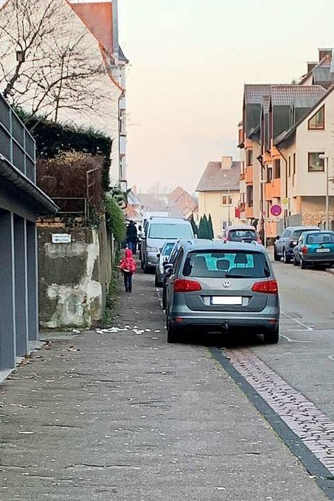 Situationen wie hier in der Moltkestraße sollen künftig vermieden werden  | Foto: Stadt Lahr