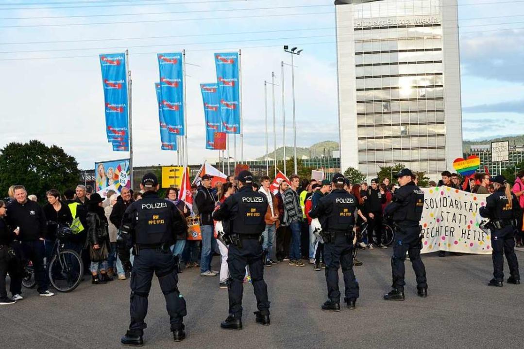 Als die AfD im Bundestagswahlkampf 201...e Offenburger Stadteinfahrt<ppp></ppp>    Foto: Moritz Lehmann