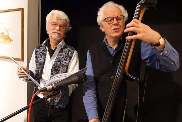 Markus Manfred Jung und Uli Führe in der Haltinger Galerie Underground