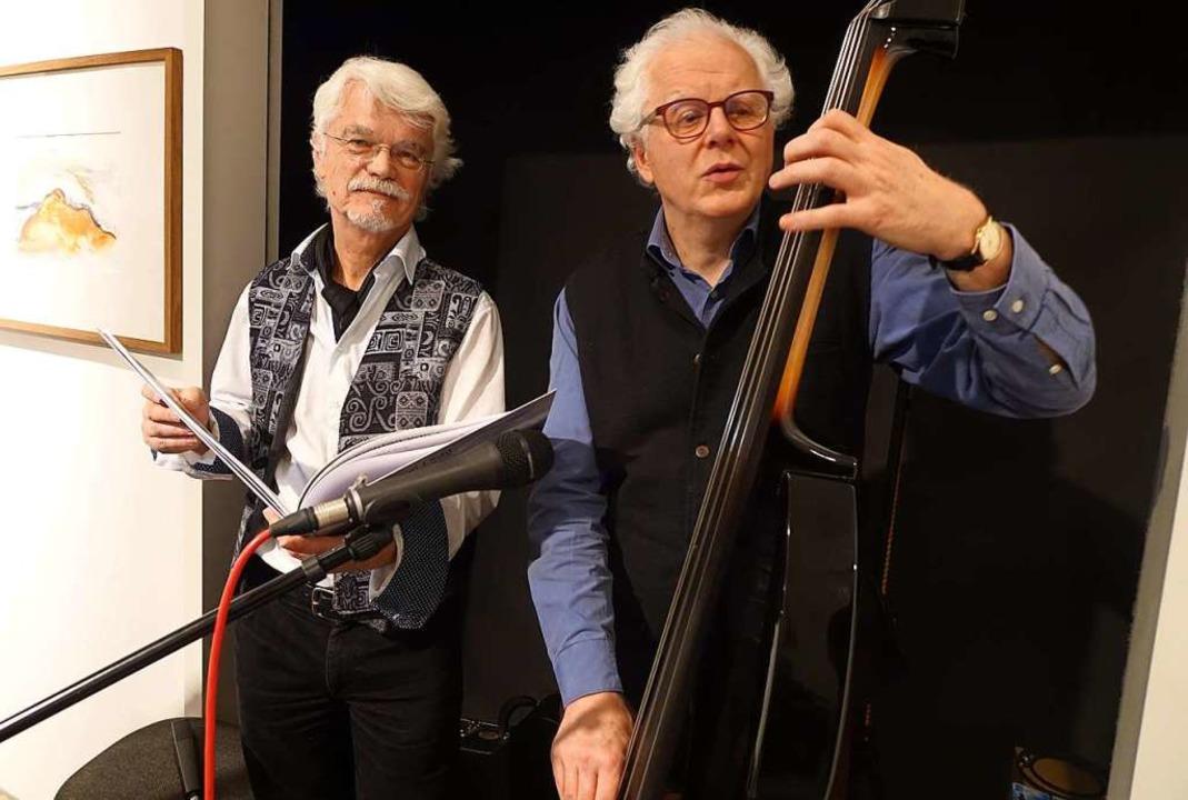 Kongeniales Duo: Markus Manfred Jung (links) und Uli Führe   | Foto: Roswitha Frey
