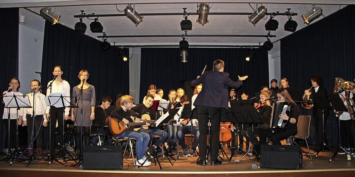 Die Schulband in Aktion bei der Offenen Bühne am Mittwochabend.   | Foto: Presse AG