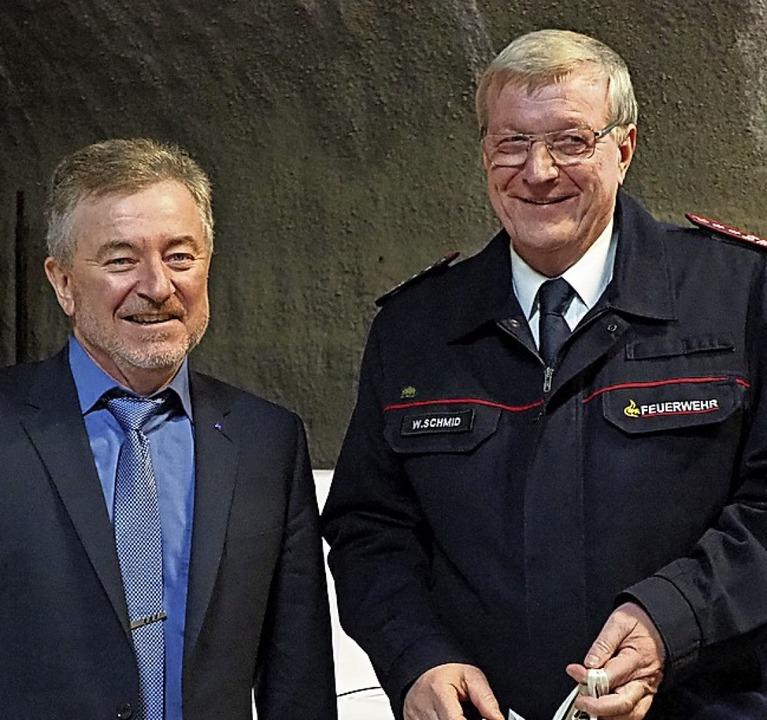 Auf Werner Schmid (rechts) konnte sich Elmar Fuchs stets verlassen.  | Foto: Herbert Frey