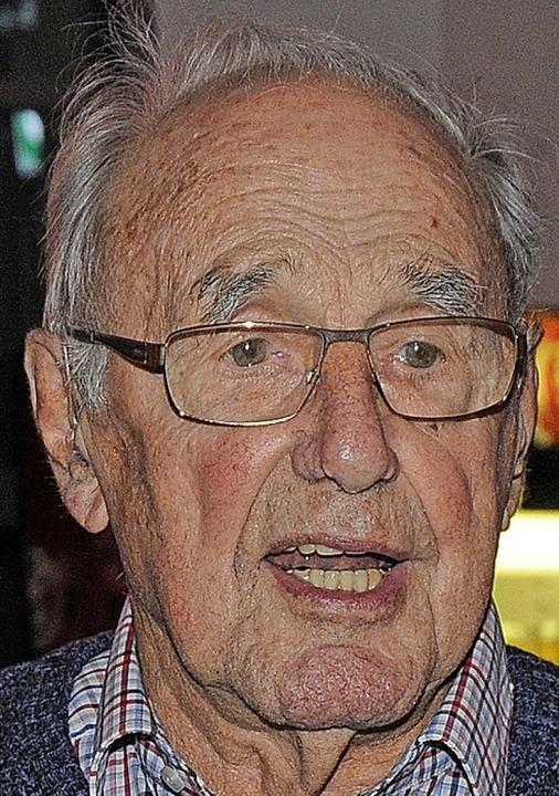 Achim Krämer aus Meißenheim ist seit 70 Jahren GEW-Mitglied.    Foto: Bettina Schaller