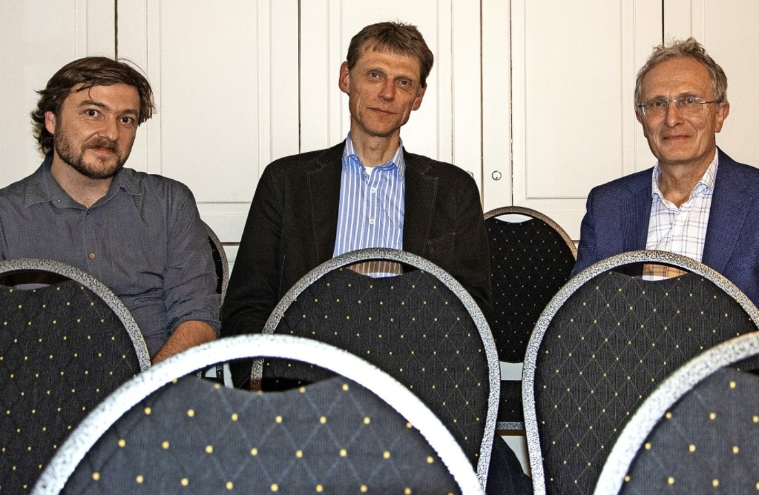 Informierten  über den Klimawandel: EW...igs-Universität Freiburg (von links).   | Foto: Paul Eischet