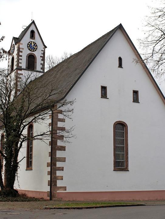 Schmuckstück: Das Pfarrer-Ehepaar Wass... in  Maulburgs evangelischer Kirche.      Foto: Anja Bertsch