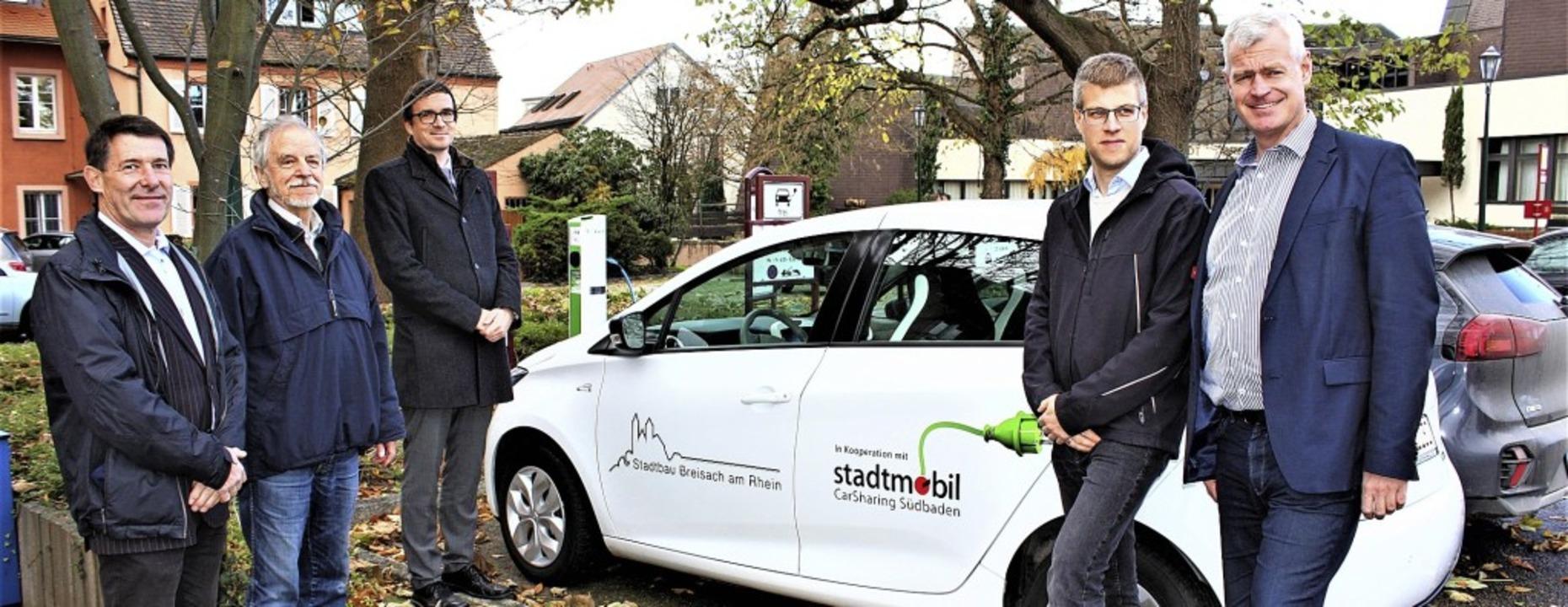 Christoph Mersinger und Gerd Müller vo...ber das gemeinsame Mobilitätsprojekt.     Foto: Laetitia Barnick