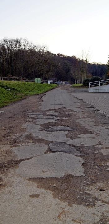 Die Zufahrt zur Grünschnittannahmestel...annenkirch-Gupf soll erneuert werden.     Foto: Silke Hartenstein