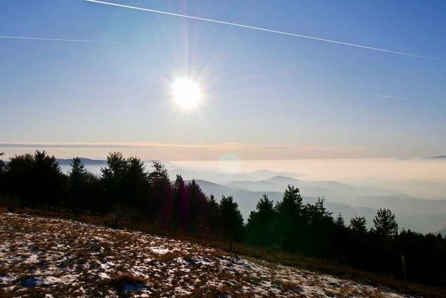 Oben auf dem Kandel Sonne, unten im Tal Suppe