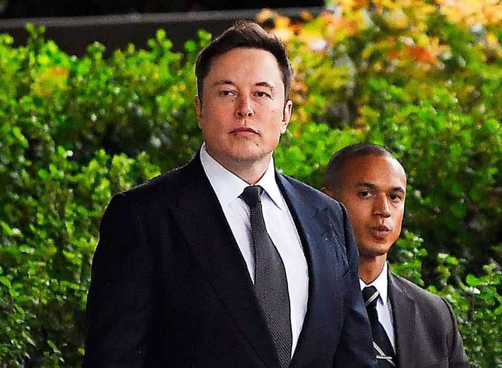 Elon Musk, US-Unternehmer kommt zum U.S. District Court.  | Foto: Mark J. Terrill (dpa)