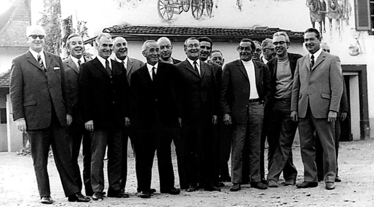 <BZ-Keyword>Der Haltinger Gemeinderat ...Jürg Fels und Emil Wendle (von links).    Foto: Stadtarchiv