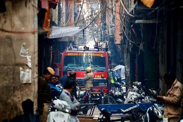 Mehr als 40 Tote bei Brandkatastrophe in Neu Delhi