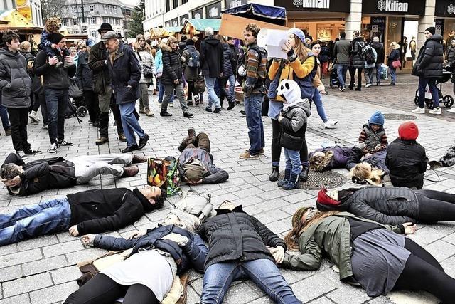 Flashmob auf dem Weihnachtsmarkt