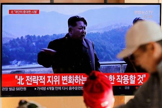 Nordkorea meldet Test auf Abschussbasis