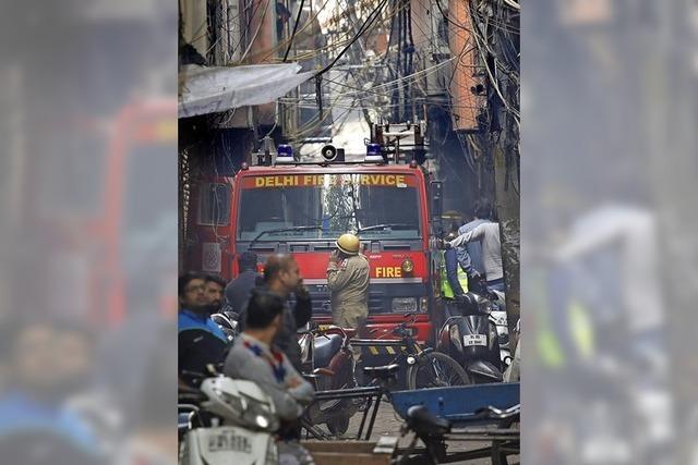 43 Fabrikarbeiter sterben bei Brand