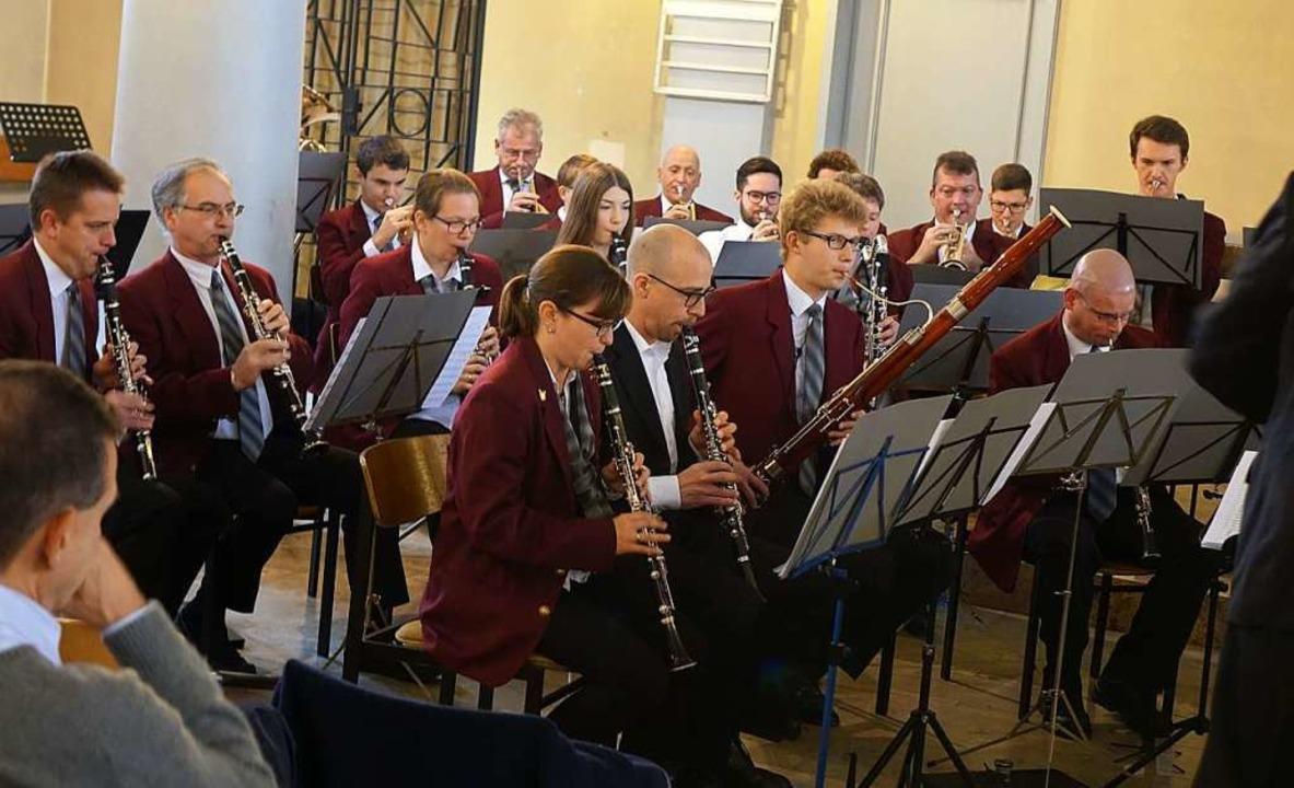 Die Stadtmusik präsentierte sich in der Stadtkirche von ihren besten Seite.  | Foto: Roswitha Frey