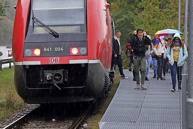 Bahn fährt bis Stühlingen