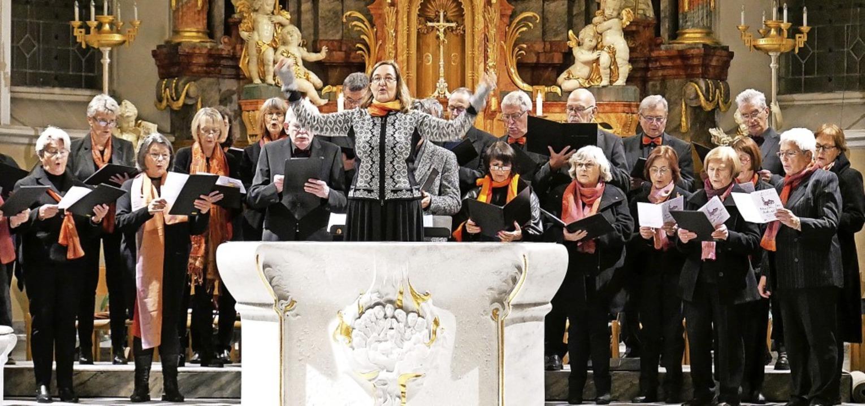 Der Kirchenchor St. Martin unter Leitung von Elisabeth Schlegge-Weidt   | Foto: Michael Gottstein