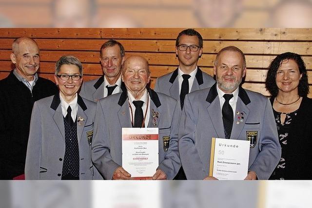 Seit 70 Jahren spielt Karlfrieder Bee im Musikverein