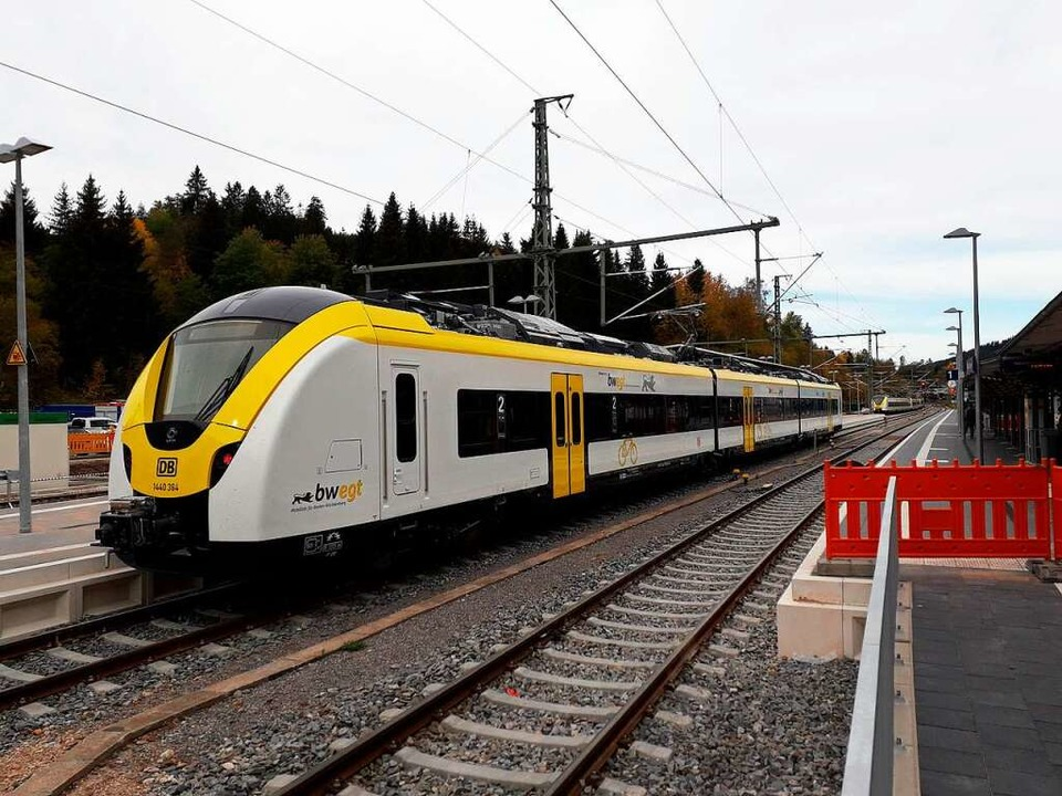 So sieht einer der neuen Züge aus, der...Kaiserstuhl bis Neustadt pendeln soll.  | Foto: Thomas Binder