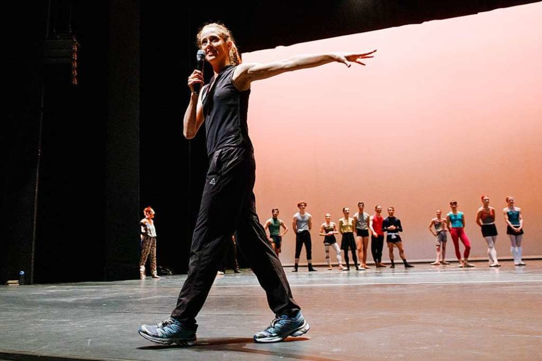 Bridget Breiner bei einer Ballettprobe  | Foto: Felix Gruenschloss