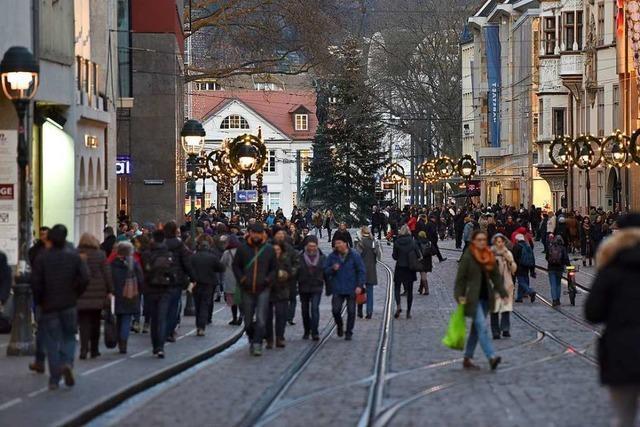 Weihnachtsgeschäft läuft gut für Freiburgs Einzelhändler