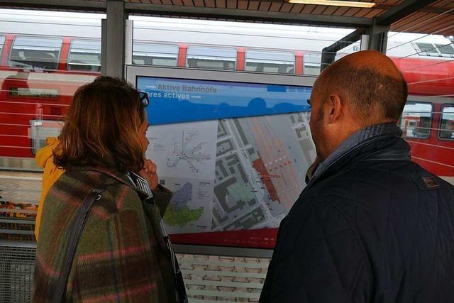 Die IBA will die Orientierung an den Bahnhöfen im Dreiland erleichtern