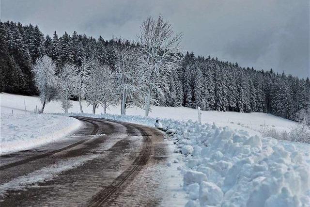 Erster Schnee im Hochschwarzwald