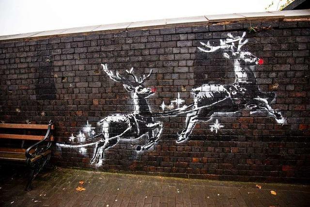 Neues Banksy-Werk zeigt Obdachlosen in Rentierschlitten