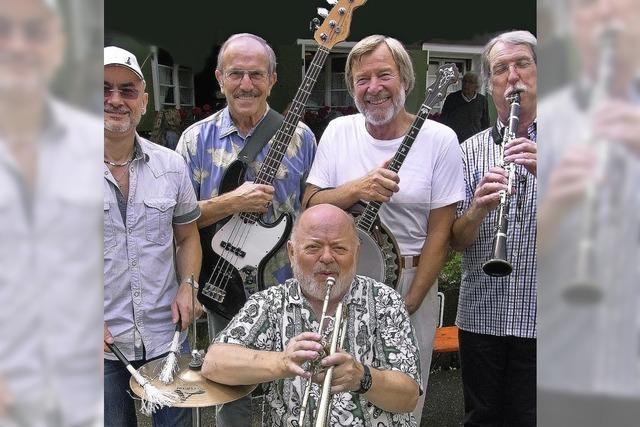 """Die Blues- und Swingband """"Royal Garden Five"""" spielt im Kybfelsenrestaurant"""